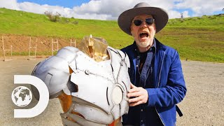 Would The Iron Man Suit Be Bulletproof In Real Life? Adam Savage Finds Out | Savage Builds
