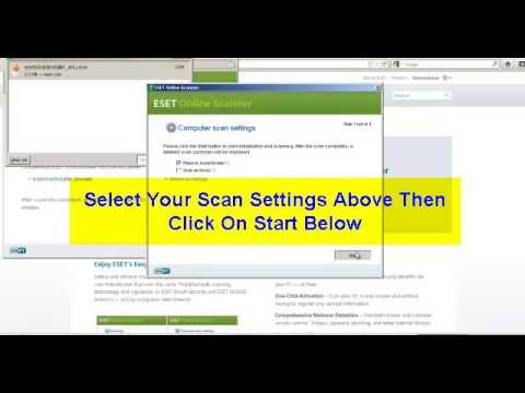 Remove A Virus With Eset Online Antivirus Scanner Tool As Used By Professionals - YouTube