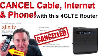 🔴CANCEL Cable, Internet & Phone with this 4G LTE modem. Uses Phone SIM & Landline phone!