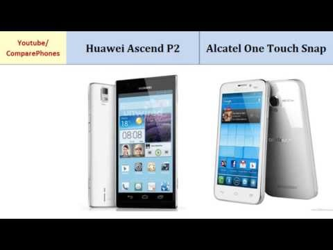 Huawei Ascend P2 Vs Alcatel One Touch Snap, features compared