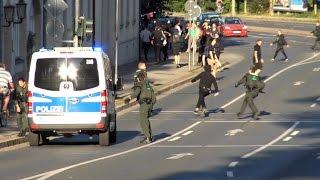 Polizei Großeinsatz Thügida Demo und Gegendemos in Jena 17.08.2016