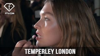 London Fashion Week Fall/WItner 2017-18 - Temperley London Make Up | FTV.com