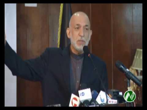 حامد کرزی رییس جمهور پیشین افغانستان حکومت را بخاطر همکاری در برتاپ بمب بر ولسوالی ...