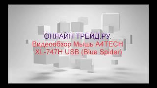 ОНЛАЙН ТРЕЙД.РУ. Обзор на игровую лазерную мышь A4TECH XL-747H USB (Blue Spider)
