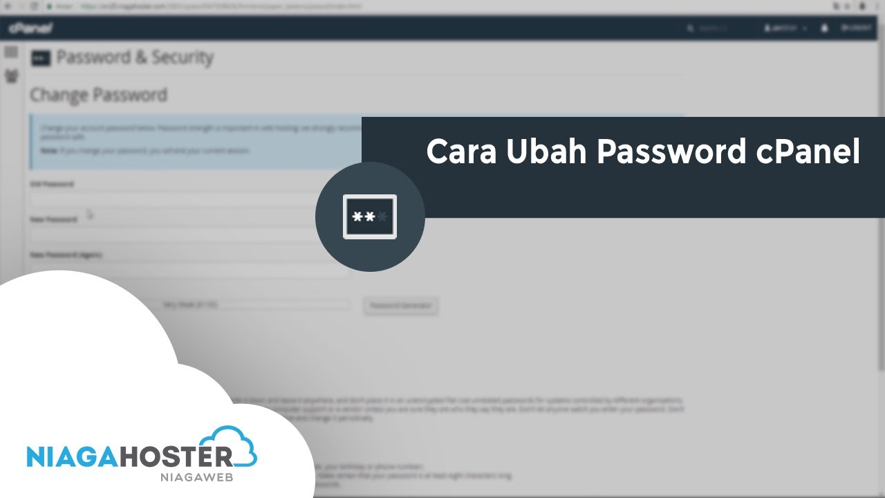 cara ganti password cpanel
