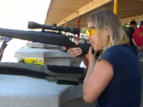 Girl Shooting 7mm Remington Magnum