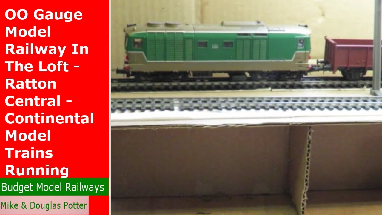 OO Gauge Model Railway In The Loft - Ratton Central - Continental Model Trains Running - Update 16