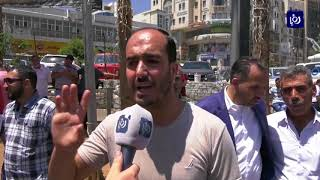تظاهر صحفيين فلسطينيين فى رام الله ضد اعتقال أجهزة الأمن لزملائهم (12-8-2017)