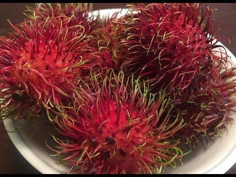 How to eat and cut open Rambutan fruit