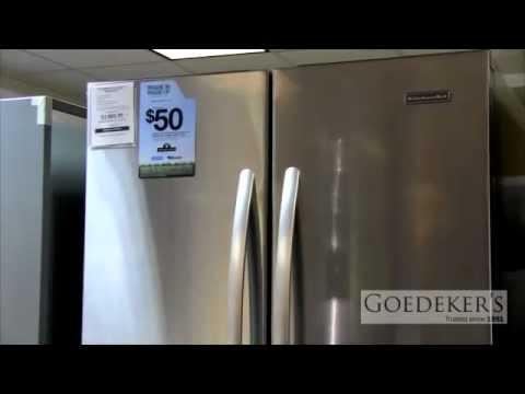 kitchenaid frenchdoor kfcs22evms youtube