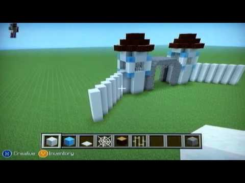 Minecraft How To Build A Ice Castle Part 2 Youtube