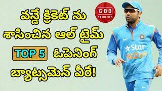 Top 5 Openers in ODI Cricket in Telugu | Best Openers in ODI Cricket History