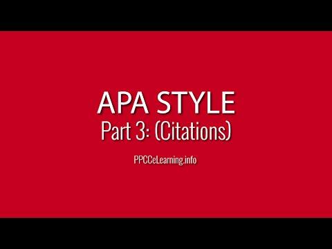 APA Style | Part 3: Citations