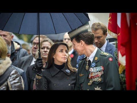 Joachim og Marie til mindehøjtidelighed for de faldne i 1. verdenskrig