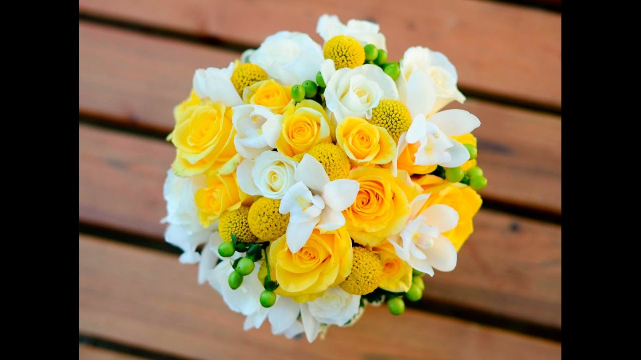 Yellow And White Bouquet Youtube