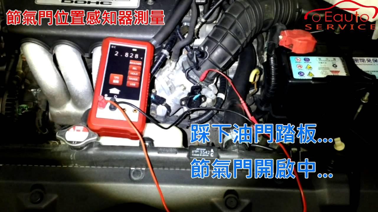 TS-701 節氣門位置感知器測量 - YouTube