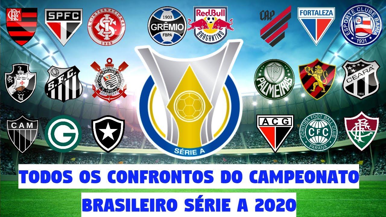 Todos Os Confrontos Do Campeonato Brasileiro Serie A 2020 Youtube