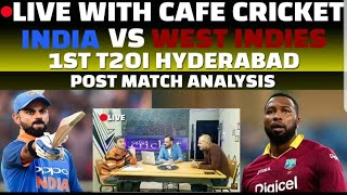Live With Cafe Cricket India vs West Indies 1st T20i