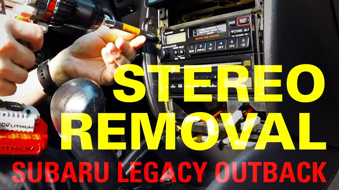 1997 subaru outback radio wiring diagram handball court 1999 legacy stereo removal youtube