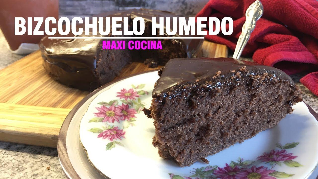 Bizcochuelo De Chocolate Humedo Y Esponjoso Sin Manteca Youtube