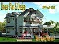 home plan,stylish home designs-2100 sqft 4 bhk-Beautiful home plan & Elevation 2018 house