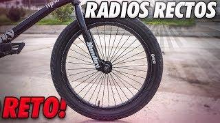 QUE PASA SI MONTAMOS LOS RADIOS DE LA BMX RECTOS?
