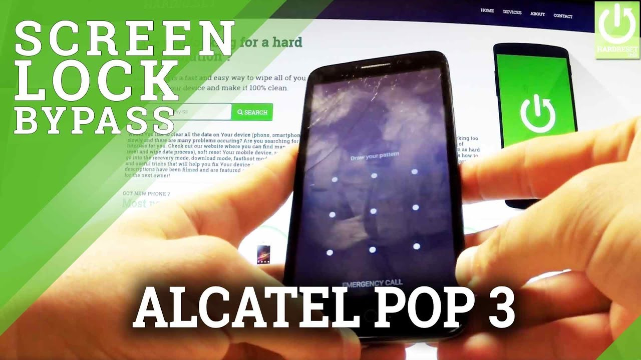 5d4c58e4d1f Hard Reset ALCATEL OneTouch Pop 3 - Bypass Pattern Lock / Format Android