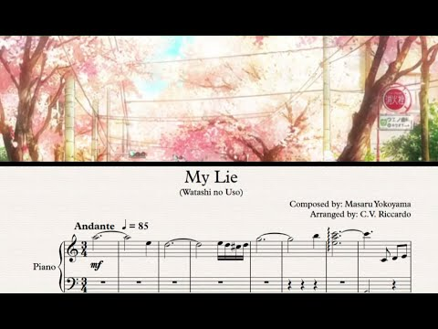 Free Music Sheet | My Lie (Watashi No Uso) - Your Lie In April Soundtrack
