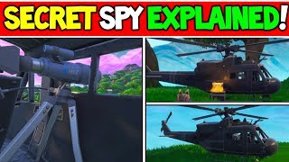 *NEW* SECRET HELICOPTER IS SPYING ON THE FORTNITE MAP!! (Explained!) - Season 8 Storyline