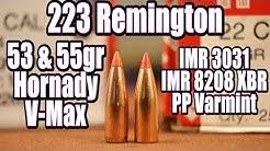223 Rem - 53gr & 55gr Hornady V-Max