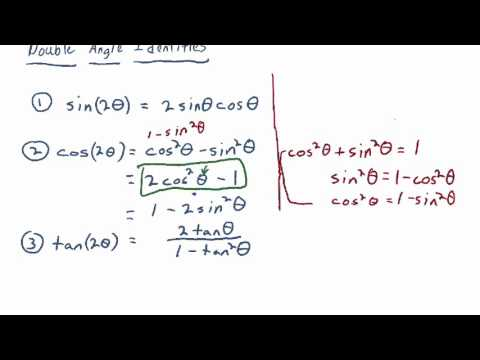 Section 6.3:  Double and Half-Angle Identities [Full Lecture]