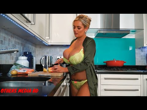 Big Beautiful Breast Model Kitchen Coking Special 01   Big Boobs Model   Busty Model   Others bd