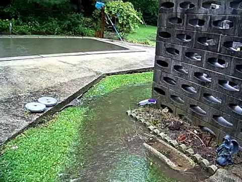 ellicott city flood 9 7 11 my flooded yard youtube