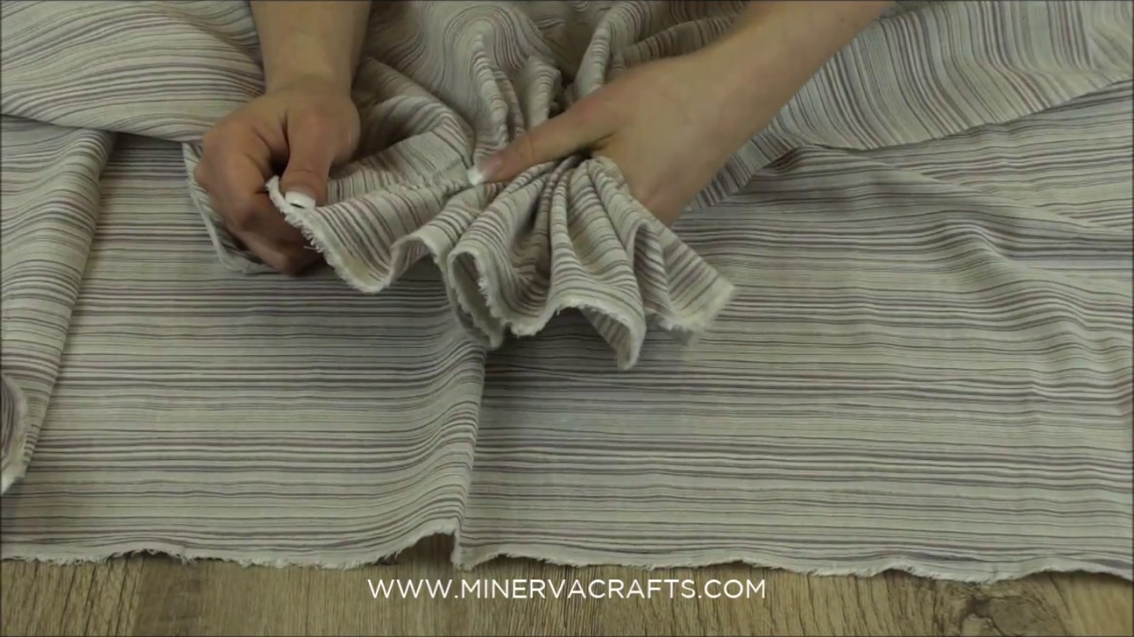 Stripe Cotton & Modal Blend Linen Look Dress Fabric