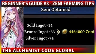 Beginner's Guide #3 - How To Farm Golds (Zeni) Effectively & Farming Squad Tips (The Alchemist Code)