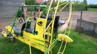 chariot paramoteur bi-place moteur rotax 447 marque galaubet