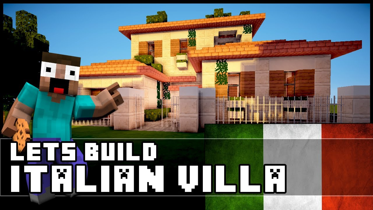 Minecraft how to make an italian villa youtube for How to build a house in florida