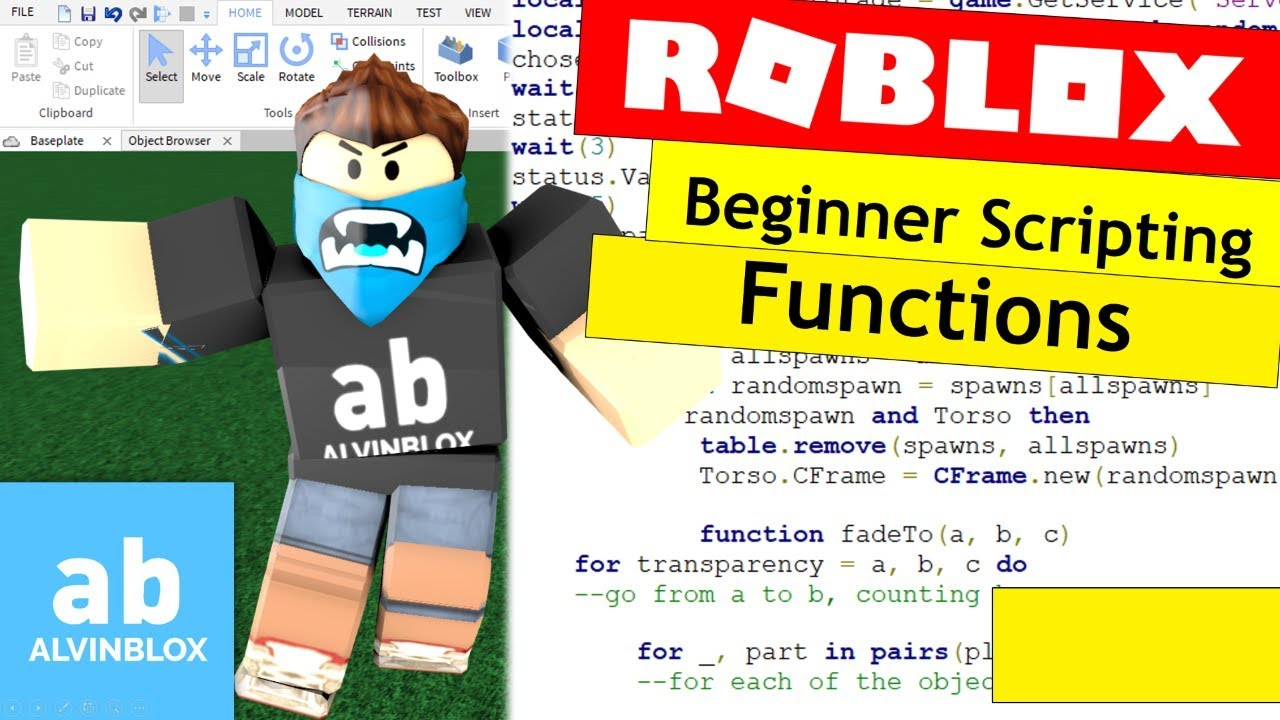 How To Script On Roblox For Beginners – Functions, Parameters & Arguments – Episode 9