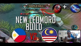 LEOMORD NEW BUILD AGAINST MALAYSIA - MOBILE LEGENDS - 1000 DIAMONDS GIVEAWAY - GAMEPLAY