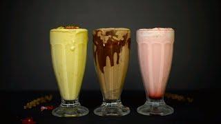 3 KULFILICIOUS MILKSHAKES RECIPE | Kulfi Recipe | Kulfi Milk Shakes Recipe
