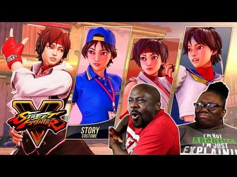Street Fighter 5: Arcade Edition Sakura Reveal Trailer {REACTION}