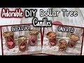ADORABLE DIY Dollar Tree CANDLES | QUICK & EASY UNDER $5