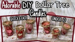 ADORABLE DIY Dollar Tree CANDL…
