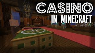 MINECRAFT - CASINO with Slot Machine and Roulette!