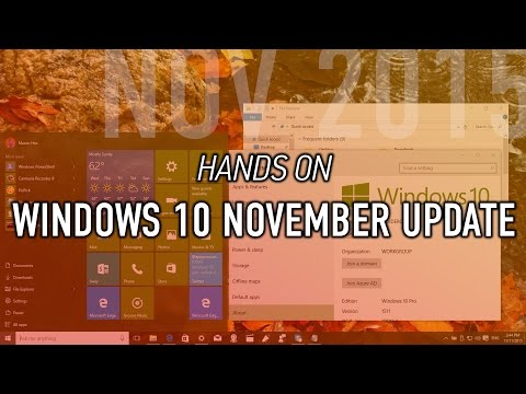 Windows 10 November update: Hands-on demo with new features and changes (version 1511)