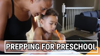 VLOG| PREPPING FOR PRESCHOOL