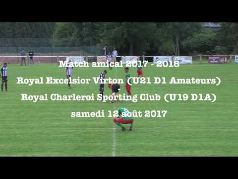 Match amical 2017 - 2018 : U21 RE Virton - U19 R Charleroi SC