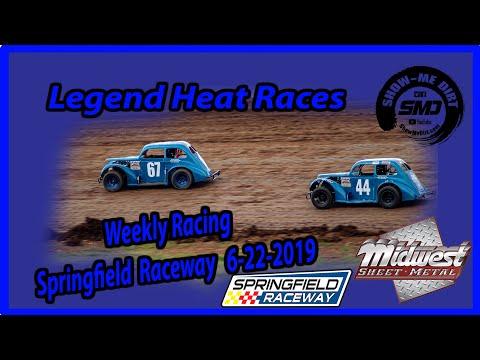S03-E310 Legend Heat Races - Springfield Raceway 6-22-2019 #DirtTrackRacing