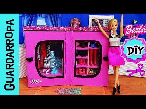 como-hacer-guardarropa-|-closet-para-tu-colección-de-muÑecas-barbie-|-ropero-|-armario-en-miniatura