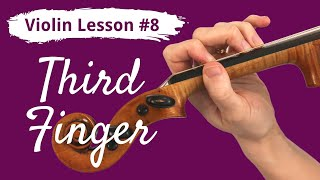 FREE Violin Lesson #8 for Beginners | THIRD FINGER